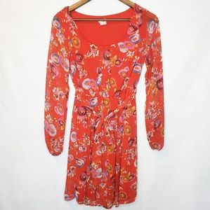 ASOS Needle & Thread Red Floral Dress